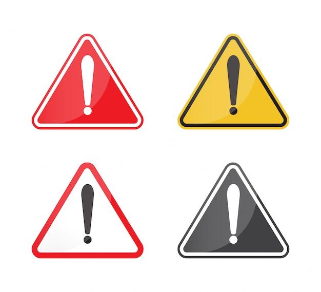 Conjunto de sinal de aviso.