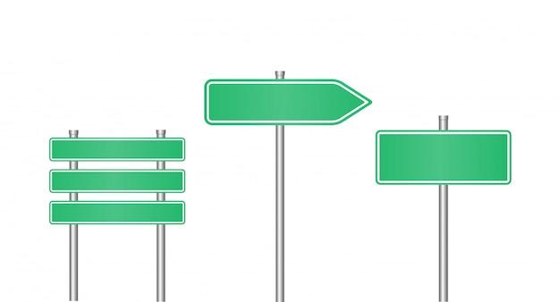 Conjunto de sinal de estrada realista
