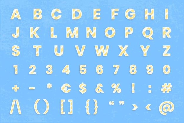Conjunto de sinal de número de letra