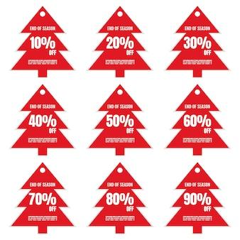 Conjunto de sinalização de desconto, banner ou pôster, sinalização de preço de oferta especial