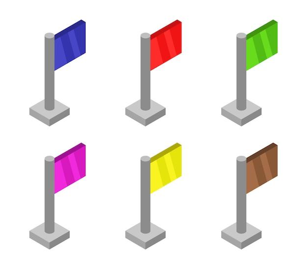Conjunto de sinalizadores isométricos