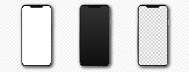 Conjunto de smartphones, telefones celulares ou celulares