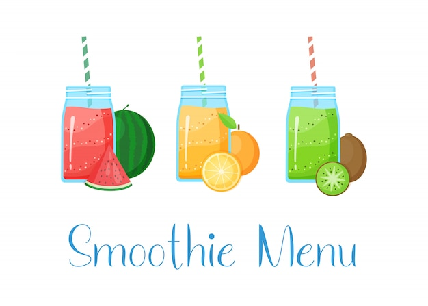 Conjunto de smoothies