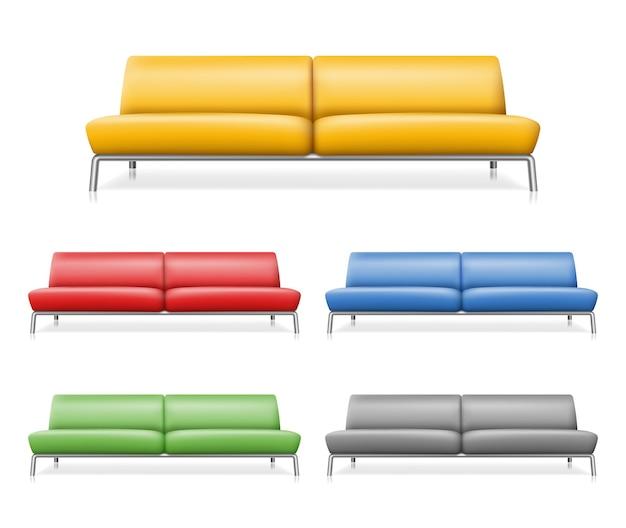 Conjunto de sofás confortáveis