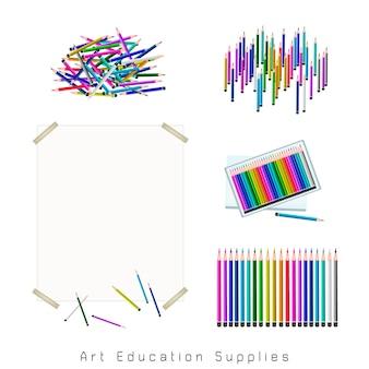 Conjunto de sortimento de lápis de cor