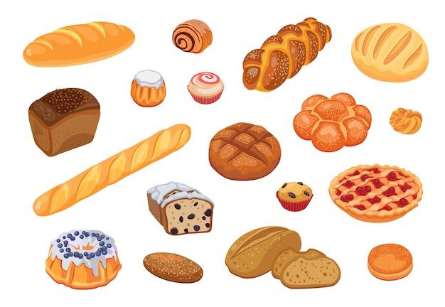 Conjunto de sortimento de pão