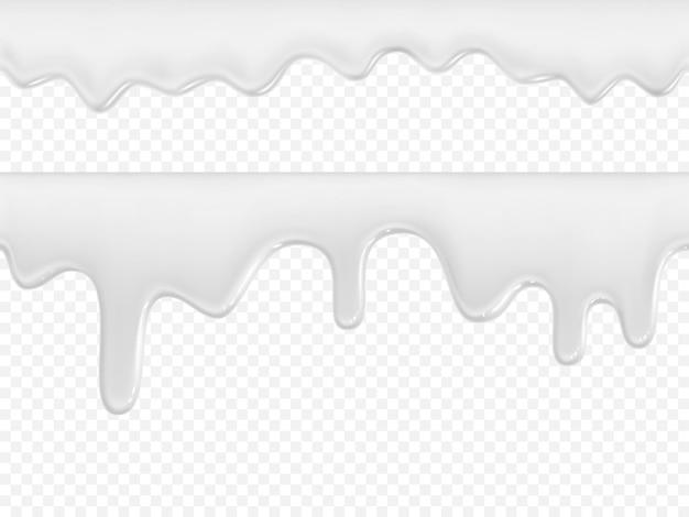 Conjunto de sorvete ou leite em fundo transparente