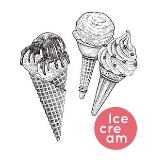 Conjunto de sorvete.