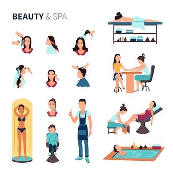 Conjunto de spa de salão de beleza