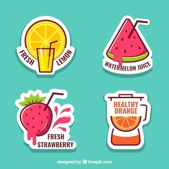 Conjunto de suco de frutas adesivos