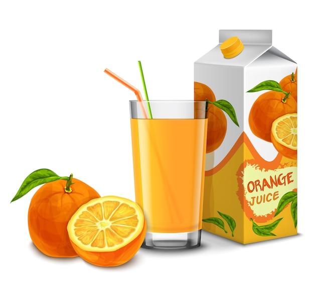 Conjunto de suco de laranja