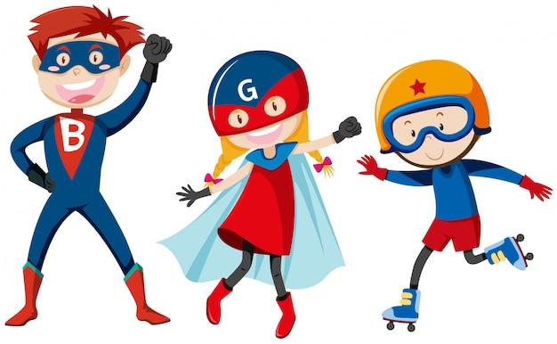 Conjunto de super herói