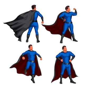 Conjunto de super-herói