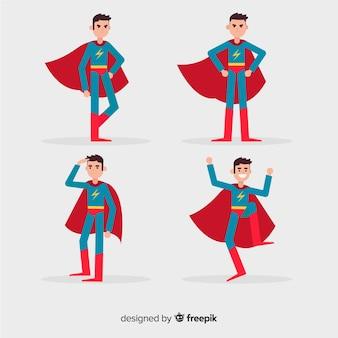 Conjunto de super heróis masculino