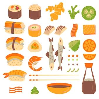Conjunto de sushi e sashim