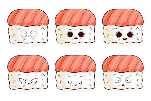 Conjunto de sushi fofo