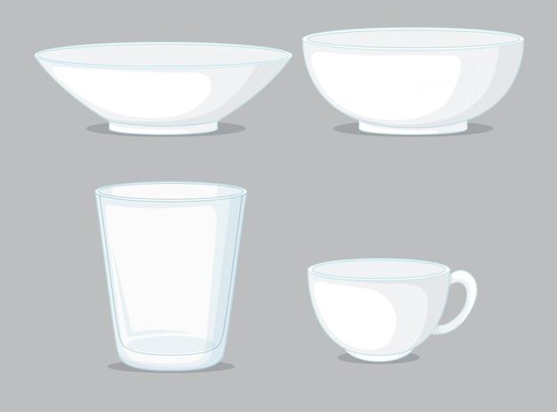 Conjunto de taças e taças