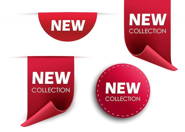 Conjunto de tags. emblemas e etiquetas isoladas.