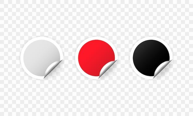 Conjunto de tags promocionais vazias de círculo redondo