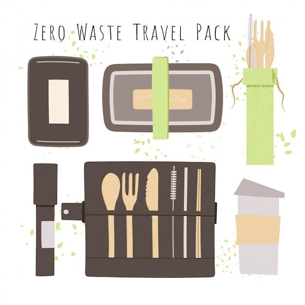 Conjunto de talheres de viagem de bambu natural - lancheiras, caneca de café reutilizável com utensílios portáteis talheres com faca, garfo, colher, palha e escova de limpeza para camping ou almoço de escritório.