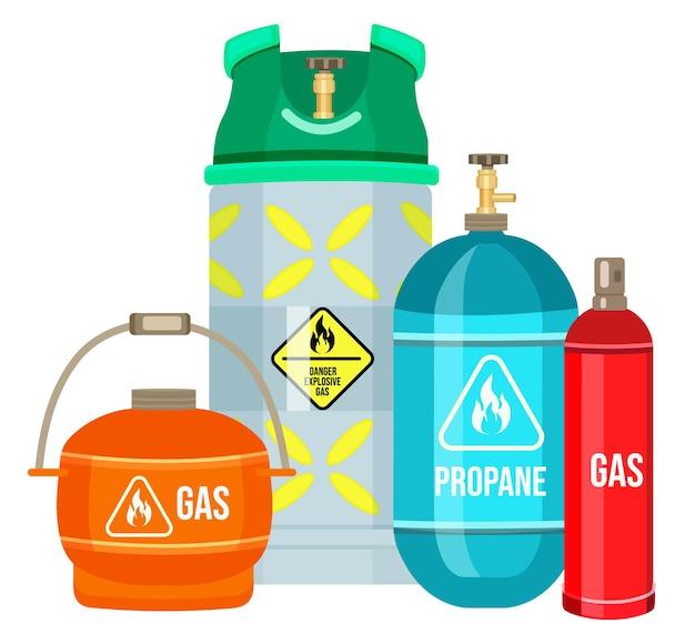 Conjunto de tanque de cilindro de gás