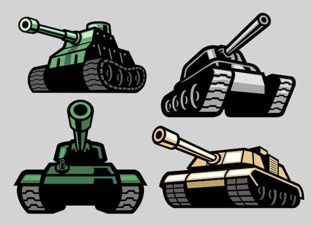 Conjunto de tanque militar
