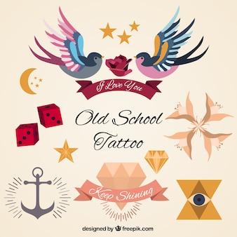 Conjunto de tatuagens artística