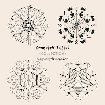 Conjunto de tatuagens geométricas