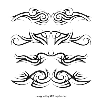Conjunto de tatuagens tribais