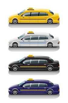 Conjunto de táxi limusine para passageiros especiais