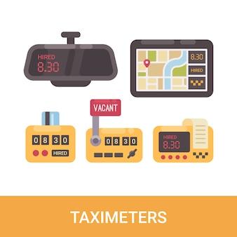 Conjunto de taxímetros