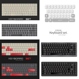Conjunto de teclado realista