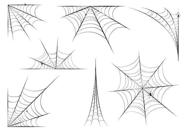 Conjunto de teia de aranha de halloween