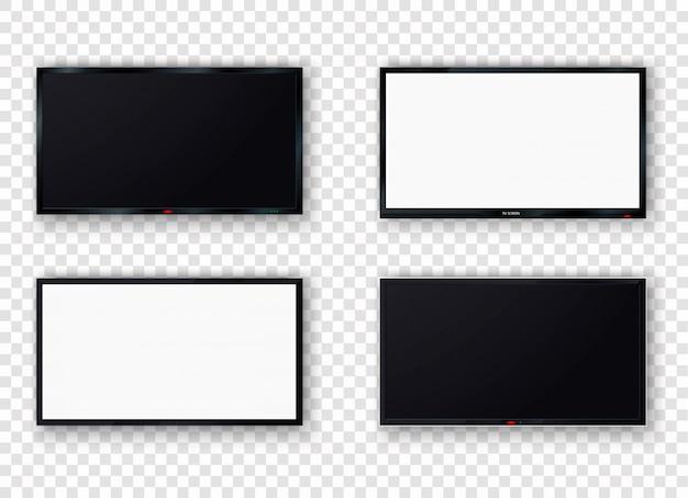 Conjunto de tela de tv realista