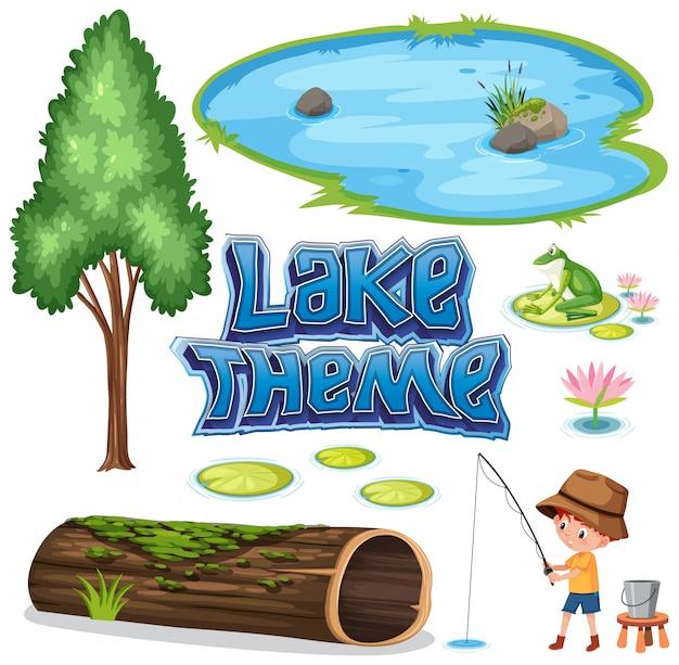 Conjunto de tema do lago
