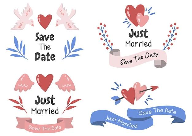 Conjunto de temas de casamento