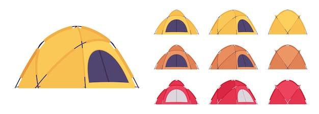 Conjunto de tenda cúpula