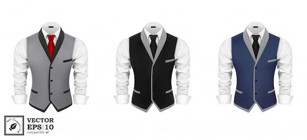 Conjunto de terno de negócios para homens