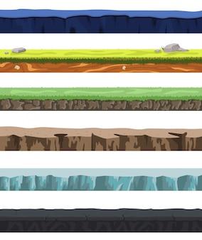 Conjunto de terreno sem costura