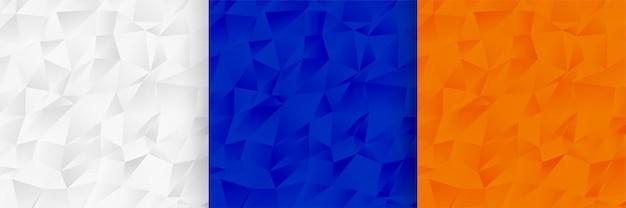 Conjunto de textura abstrata baixa poli padrão