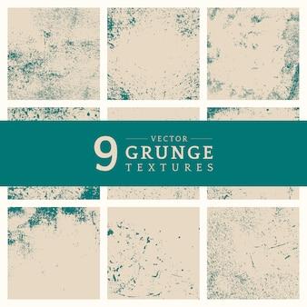 Conjunto de textura angustiado grunge bege