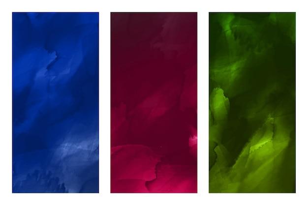 Conjunto de textura aquarela abstrata