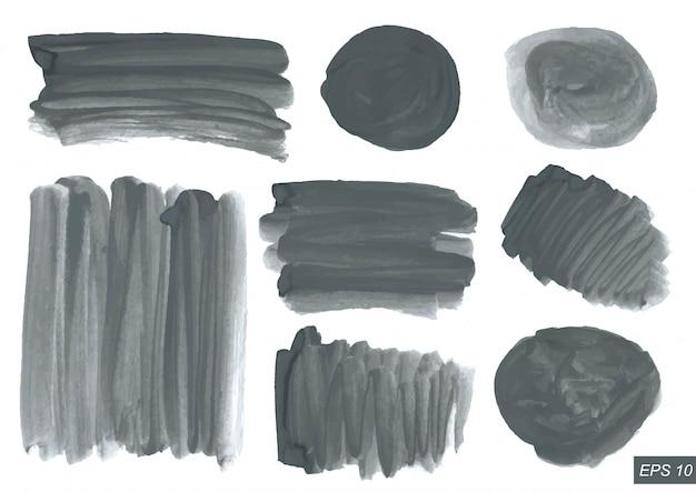 Conjunto de textura aquarela.