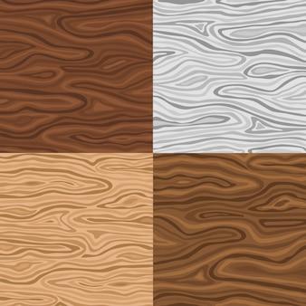 Conjunto de textura de madeira Vetor grátis