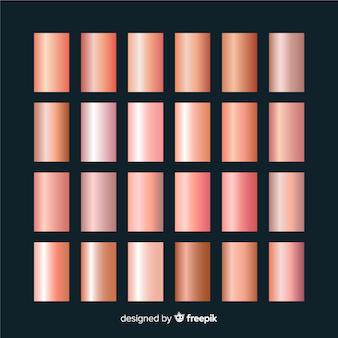 Conjunto de textura de ouro rosa