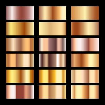 Conjunto de textura de ouro