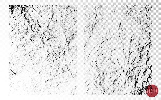 Conjunto de textura de sobreposição angustiada, superfícies ásperas, pele seca velha. origens do grunge. recursos gráficos de uma cor.