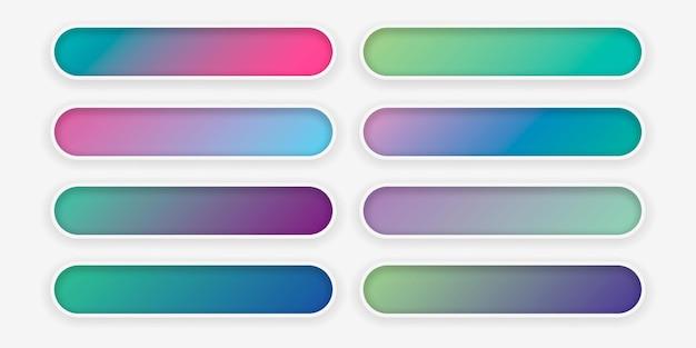 Conjunto de textura gradiente colorida abstrata para seu projeto.