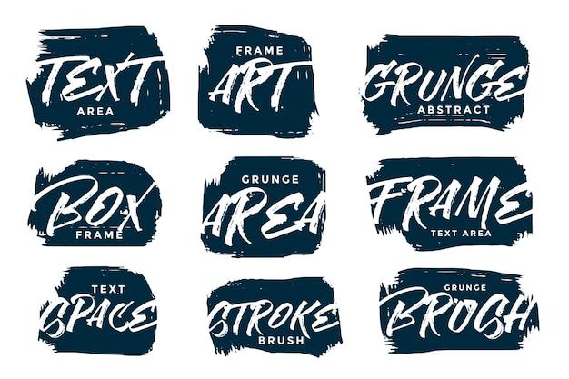 Conjunto de texturas abstratas de grunge desenhado à mão