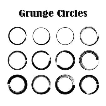 Conjunto de texturas de círculo de grunge